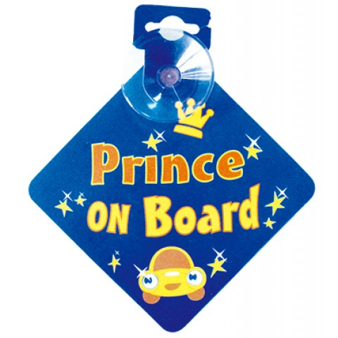 Bebecroc: 題示標語Prince On Board