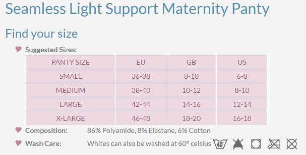 light support maternity panty